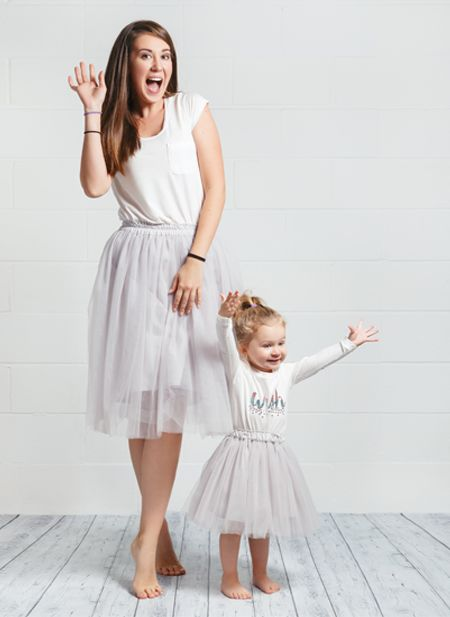 Mommy and me tulle skirts. Want to have matching outfits with your child, why not to choose tulle skirt as a centrepiece of your look.