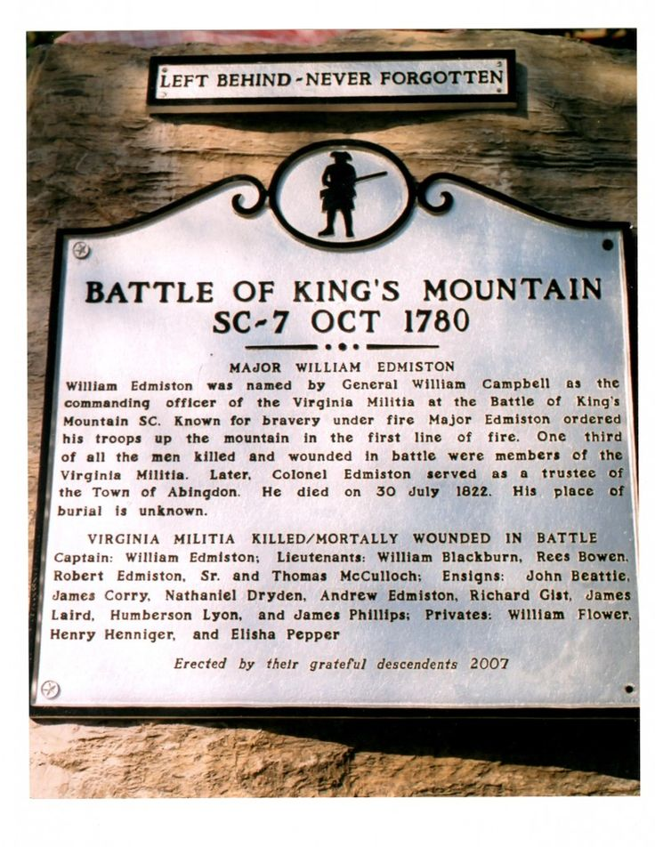 battle of kings mountain The battle of kings mountain, 1780: with fire and sword (classic reprint) [wilma dykeman] on amazoncom free shipping on qualifying offers excerpt from the battle.
