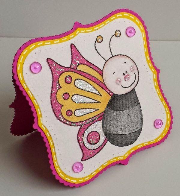 Serviettentechnik, Shaped Cards, Schmetterling