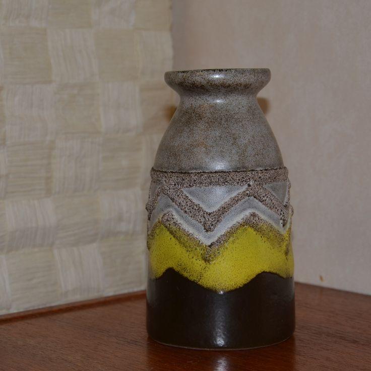 Strehla, GDR (1828-1989), Saxony, Germany (formerly East Germany). Vase - European - Pottery - ceramics - mid centery