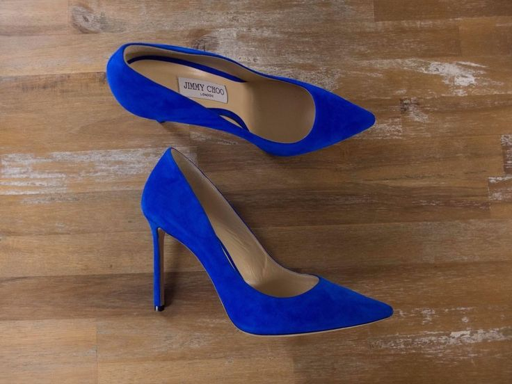 Authentic Jimmy Choo Romy cobalt blue suede stiletto pumps - Size 40 EU / 10 US / 7 UK - New with Box. Comes with original box and dustbags.   eBay!