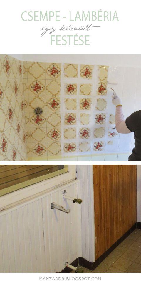 DIY tile painting & old wainscoting painting tutorial I Csempe - lambéria festés otthon - tippek, részletes leírás - Manzard9