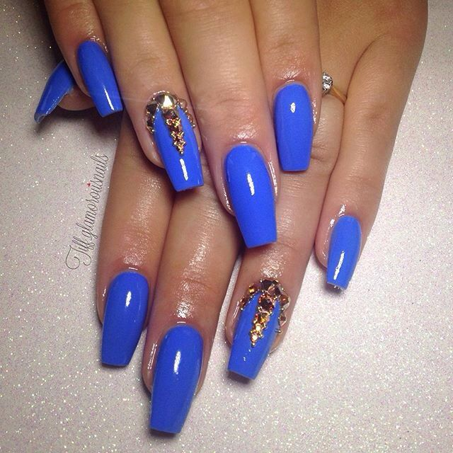 17 Best Ideas About Blue Gold Nails On Pinterest