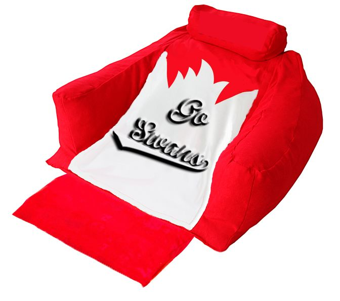 Be a true #AFL fan with wedg-eze support lounger embroidered with the Sydney Swans name....  #wedgeze #goswans