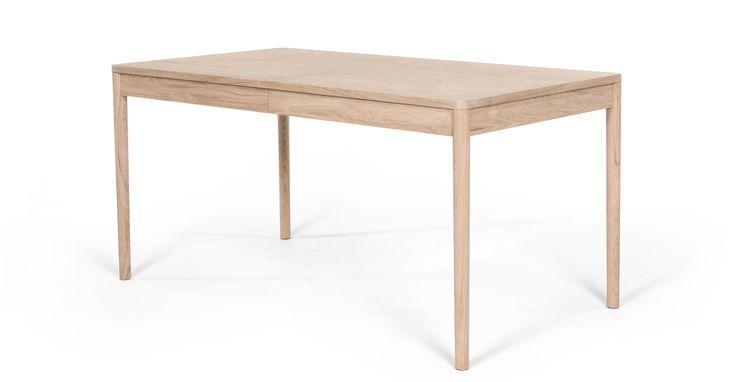 Hedra, table à rallonges, frêne clair