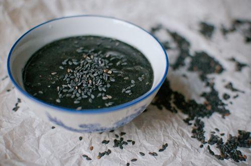 che xi ma phu vietnameese black sesame pudding