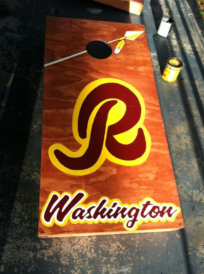 Wahington Redskins Cornhole Board