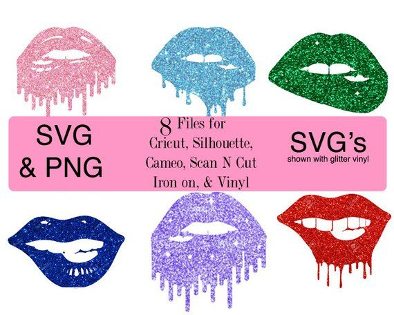 Dripping Lips Svg Lips Biting Svg Glitter Lips Biting Lips Svg