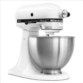 KitchenAid Classic Plus Tilt-Head 4-1/2-Quart Stand Mixer, White    amazon.com