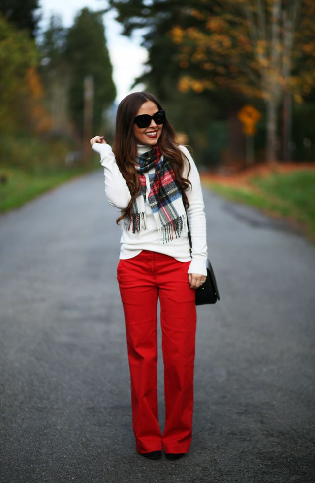 I've never loved red trouser pants quite as much as in this outfit