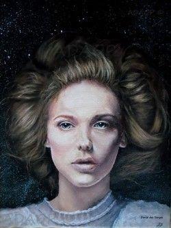 Portrait acrylique d'après une photo de Katerina Plotnikova