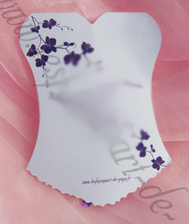 les 11 meilleures images du tableau faire part de mariage bustier corset personnalisable sur. Black Bedroom Furniture Sets. Home Design Ideas