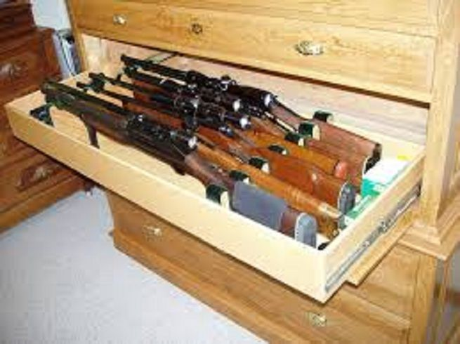 Furniture gun cabinet kits build your own gun cabinet for How to build a gun safe room