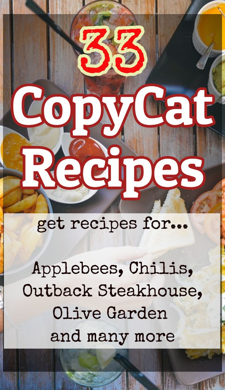 33 printable restaurant copycat recipes