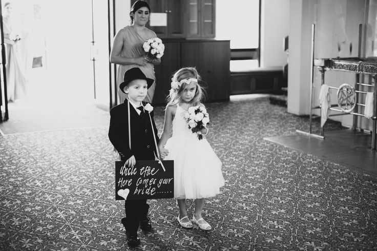 So adorable. Page boy and Flower girl. Jess and Tim's wedding day. Long Way Home Photography www.longwayhome.com.au Wedding day co-ordination. Belle Weddings