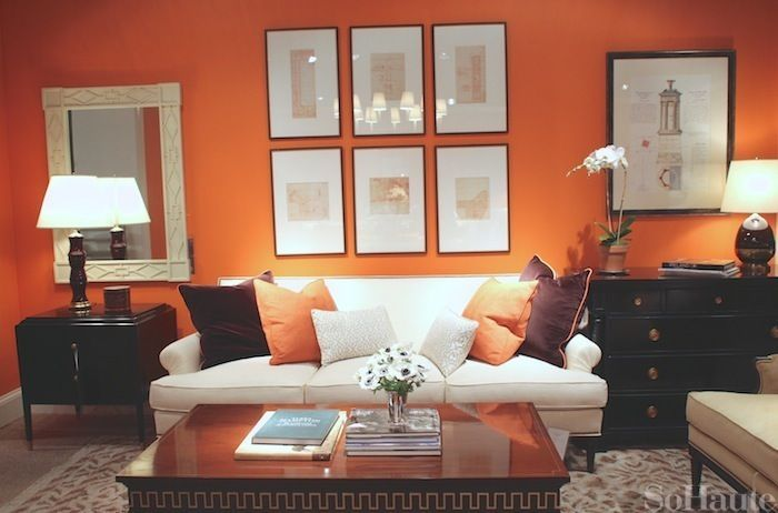 orange accents orange pinterest palier deco mur et traitement. Black Bedroom Furniture Sets. Home Design Ideas
