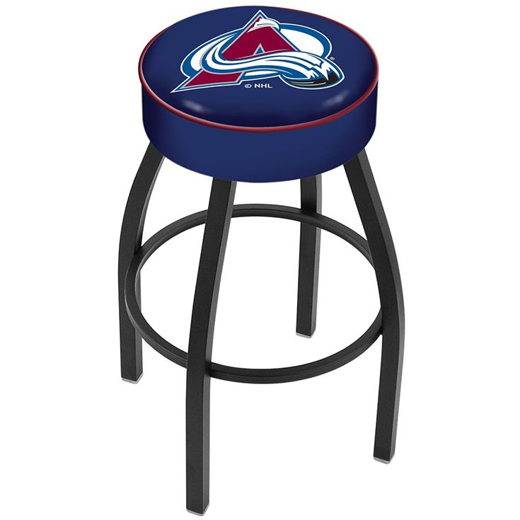 Set your ideal man cave vibe by having functional bar stools that also boast of your team pride. This swivel stool from Holland Bar Stool is made with commercial-grade steel, powder-coated in epoxy-polyester for durability and style. Its seat is screen-printed with the logo of the Colorado Avalanche using epoxy-vinyl ink. Equip your game room with this durable bar chair and buy this from dazadi.com today!