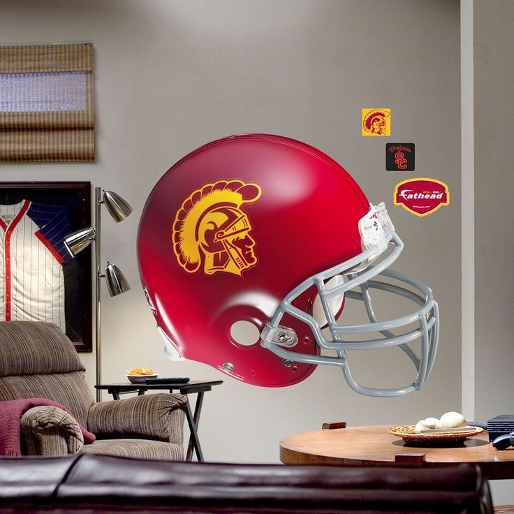 Fathead University of Southern California Trojans Helmet Wall Decal, Multicolor