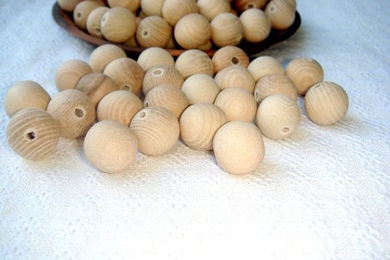 15 mm  wooden beads 100 pcs   natural by MiracleFromThreads, $10.00