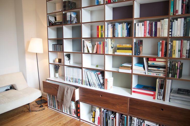 #Regalwand - viel Platz und alles im Blick! © www.buchenblau.de