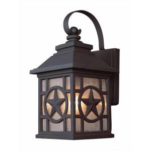 Laredo Texas Star Wall-Mount 1-Light Outdoor Black Lantern (2-Pack)-1000-022-222 at The Home Depot