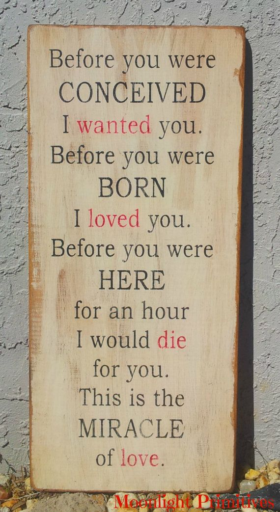 Before You Were Conceived Nursery Baby Love by MoonlightPrimitives, $60.00