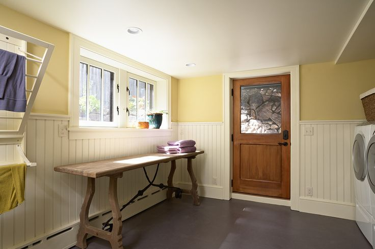 Inspired Baseboards  convention Minneapolis Craftsman Laundry Room Image Ideas with  baseboard radiator bead board wainscot built in drying rack drying rack front loading laundry