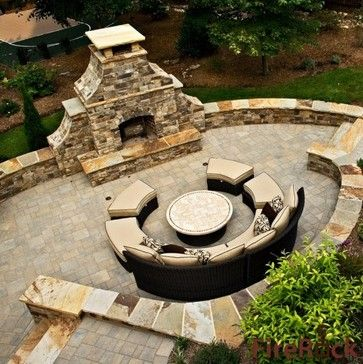 145 best outdoor fireplace designs images on pinterest | outdoor ... - Patio Ideas With Fireplace