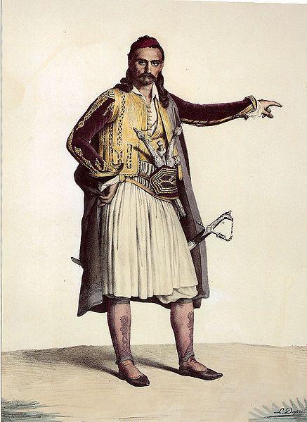 """""""Παλικάρι από τη Σελλάιδα"""" του Louis Dupré, 1820.  """"Pallikari from the region of Sellaida"""" by Louis Dupré,1820"""