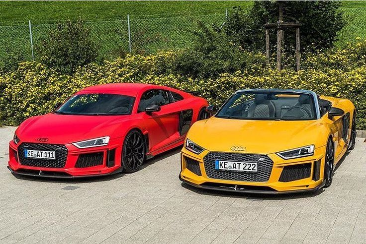 Improvement or disappointment Beauty is in the eye of the bolder - your opinion #r8color#newr8spyder #newr8 @abt_sportsline ---- oooo #audidriven - what else ---- . . . . #Audi #R8 #AudiR8 #R8Coupe #R8Spyder #quattro #redr8 #yellowr8 #4rings #AudiSport #drivenbyvorsprung #audirsperformance #carsbyaudisport #redaudi #yellowaudi #cargasm #carporn #audilover #audilove