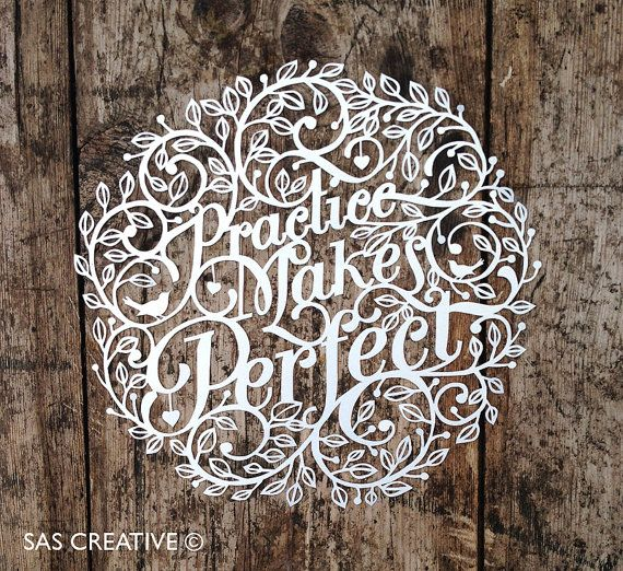 Papercut Template 'Practice Makes Perfect' by Samantha's Papercuts £5.00 via Etsy, by Samantha Sherring