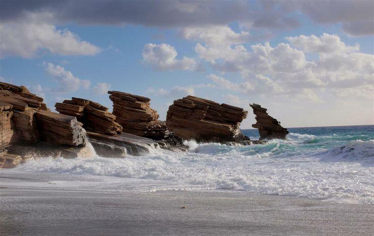 Triopetra beach on a winter, stormy day! http://cretazine.com/en/crete/crete-life/snapshots/item/1574-stormy-triopetra