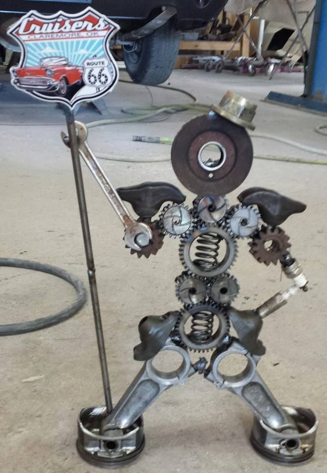 Route 66 Cruisers car show sneak preview- This is one of the rat rod trophies custom made for our show by Anderson Classics & Kustoms !    Thank you to the crew at Anderson Classics & Kustoms for your support!   Hope to see everyone at the show Sept 27th at Claremore Lake!