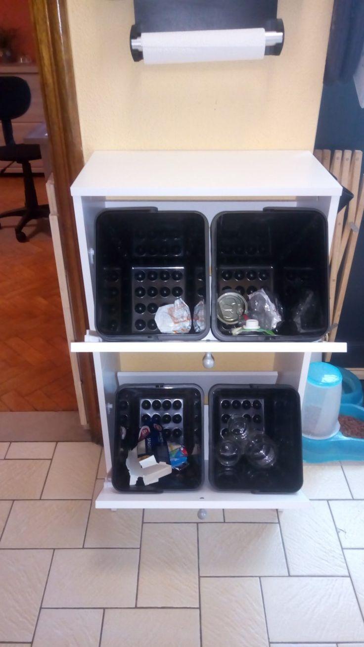 Les Meilleures Idées De La Catégorie Poubelle Tri Sur Pinterest - Poubelle de meuble cuisine pour idees de deco de cuisine