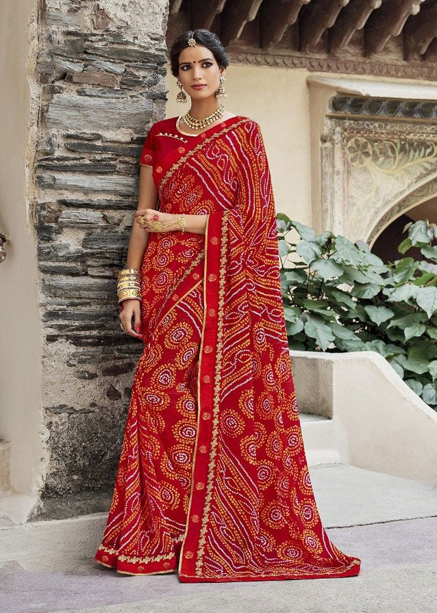 ae10da3536 Indian saree exporter jaipuri bandhej designer latest summer collection
