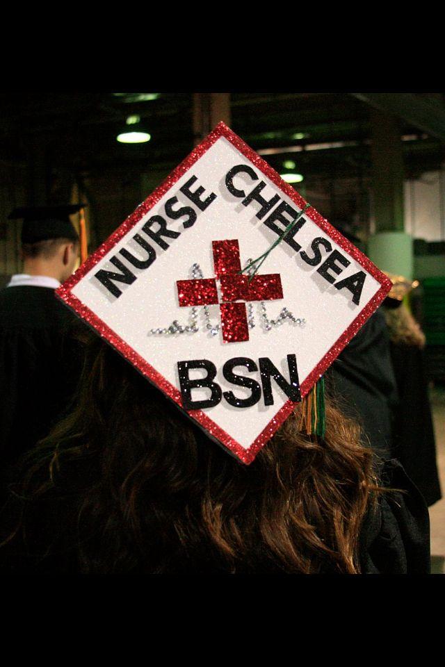 My BSN Nursing Graduation Cap! #bsn #nursing