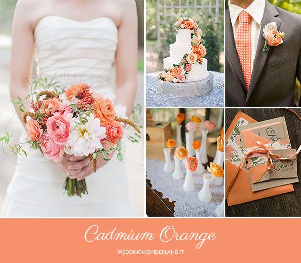 cadmium orange  wedding inspiration http://weddingwonderland.it/2015/05/colori-pantone-autunno-2015.html