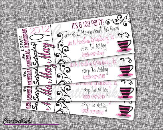 236 best Invitation Ideas images on Pinterest Weddings - free event ticket template printable