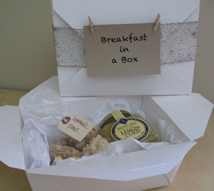 What To Get Someone For A Wedding Gift: Breakfast In A Box, Great Idea For A Party Favor Or Gift
