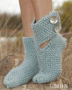 Носочки «Эльф» вязкой «путанка» от Drops Design, вязаные спицами | Блог elisheva.ru