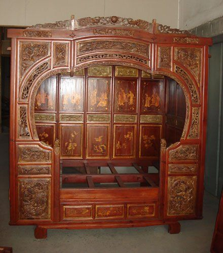 Vintage Chinese carved panel bed. Haha, will this hold at least a full size mattress ?