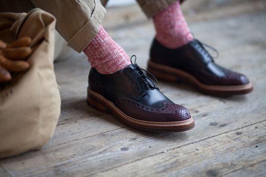 HeritageResearch-Grenson-AW12-01: Amazing Stuff, Men Style, Socks, Men Outfits, Men Fashion, Men Shoes, Men Footwear, Pink, Teas Biscuits