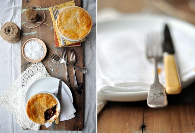 Simone's beef and pickled walnut pies