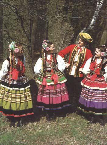 Polish folk costumes from Krzczonów