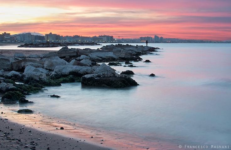"""Marin blue"": Cattolica al tramonto by @mfrancesco81"