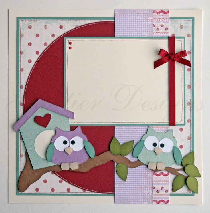 12x12 premade scrapbook pages Owl always love by gautierdesigns, $30.00