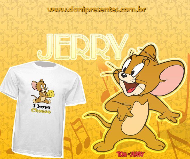 Se você já deu boas risadas com as aventuras e perseguições de Tom e Jerry, vai adorar essa novidade!    🐱🐹 http://www.danipresentes.com.br/camiseta-jerry-i-love-cheese  .  .  .  #danipresentes #nostalgia #anos80 #desenho #hannabarbera #tomejerry #jasperejinx #anos90 #80s #90s
