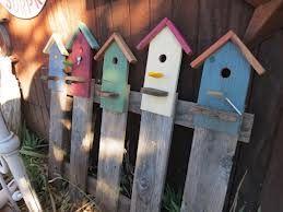 bird house picket fence