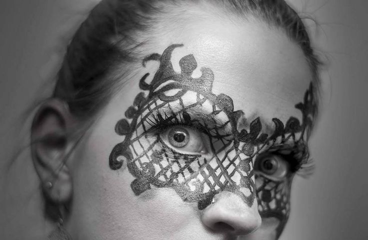 Creative makeup - lace mask.   See this Instagram photo by @thesilentgallery • 58 likes