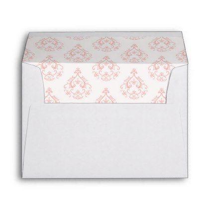 coral damask pattern envelope envelopes damasks and wedding